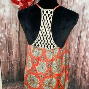 Collective Concept Strappy Floral Top Large